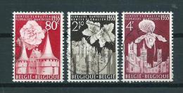 1955 Belgium Complete Set Gent Flowershow Used/gebruikt/oblitere - Belgique