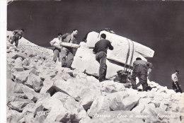 Aw - Cpsm Grand Format Carrara - Marbrières Glissage (travail Du Marbre) - Carrara