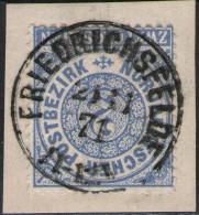 Friedrichsfelde 21/11 1871 Auf  2 Groschen Graublau - NDP Nr. 17 - Reichspost Vorläufer - Conf. De L' All. Du Nord