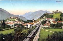 BELLINZONA (Tessin, Schweiz) - Gel.1922, 2 Marken - TI Tessin