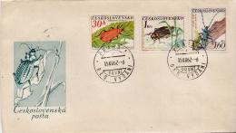 Postal History Cover: Czechoslovakia 2 Used FDCs With Full Set - Birds