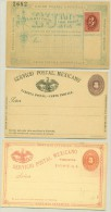 Mexico - Approx 1890 - 3x 3 Centavos Servicio Postal Mexicano - Carte Postale - Mexico