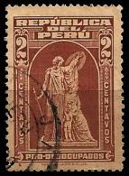 E)1951 PERU, PRO DESOCUPADOS, MONUMENT, STATUE, USED - Peru