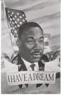 The Reverand Doctor Martin Luther King Jr. 'I Have A Dream' US Flag Image, C1960s/70s Vintage Postcard - Célébrités