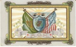Ireland Irish-US Friendship Link, C1900s Vintage Postcard - Europe