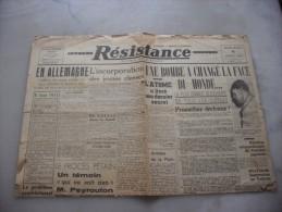 Resistance Edition De 5 H    Mercredi 8 Aout  1945 - Magazines & Papers