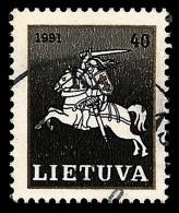 E)1991 LITHUANIA, RIDER, STAMP BLACK, MNH - Lithuania