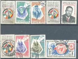_5Ez-890: Restje Van 9 Zegels:  Diverse..... Om Verder Uit Te Zoeken... - Haute-Volta (1958-1984)