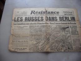 Resistance  La Voix De Paris   Lundi  23 Avril  1945 - Magazines & Papers