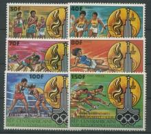 Zentralafrikanische Republik 1981 Olympiade Moskau 726/31 Ab Postfrisch - Central African Republic