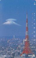 Télécarte Japon / NTT 231-276 - Vue De TOKYO  / TOUR & MONT FUJI - TOWER - Japan Phonecard Telefonkarte - Site 40 - Japan