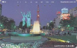 Télécarte Japon / NTT 431-117 - Vue De SAPPORO  / TOUR - TOWER - Japan Phonecard Telefonkarte - Site 41 - Japan