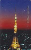 Télécarte Japon - Vue De TOKYO By Night  / TOUR - TOWER - Japan Phonecard Telefonkarte - Site 43