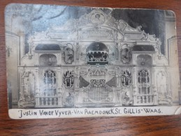 Justin Vande Vyver -Van Raemdonck St Gilles Waas Orgel Mortier Antwerpen//  RPPC Fotokaart De Bruyne Temse - Muziek En Musicus