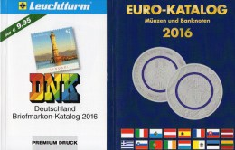 Briefmarken/Münz-Katalog Deutschland 2016 New 20€ Stamps DR Reich Saar Memel Danzig SBZ DDR Berlin AM BRD+coin Of EUROPA - Timbres