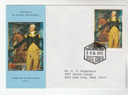 1975 EQUATORIAL GUINEA FDC Stamps US Bicentennial  Horse George Washington On Trenton Battlefield Cover - Us Independence