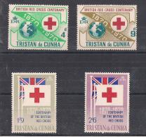 COLONIE INGLESI  TRISTAN DA CUNHA 1970  CROCE ROSSA   YVERT. 133-136 MNH XF - Altri