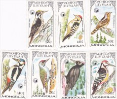 Mongolia 1986 Woodpeckers MNH - Birds