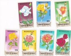 Mongolia 1988 Roses MNH - Roses