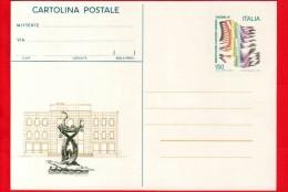 ITALIA ~ Intero Postale - 1981 - Riccione 1981 - Cartolina Postale - 150 L. • Palazzo Del Turismo, Fontana Dei Delfini - 6. 1946-.. Repubblica