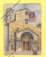 CPA 13 - ARLES - La Cathedrale Saint Trophine - Le Portail 1944 ( 1F50 Pétain ) - Arles