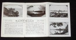 Dépliant Ancien 4 Volets Saint Malo Saint Servan Paramé - Bretagne - Photos N&B - Dépliants Touristiques