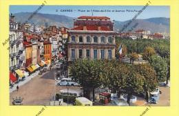 CPA CANNES  Vers 1939  Place De L´Hôtel De Ville Et Avenue Félix Faure  ( Peu Commune ) - Cannes