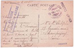 """1918- Les Postes Serbes à Corfou De 1916 à 1918- C P A  En Franchise En Escale à Bord Du """"Provence"""" - Postmark Collection (Covers)"""