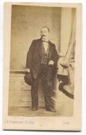 Gentleman, Cabinet Photo, Atelier J.B. ROTTMAYER & Comp. Graz Austria, D 105 X 65 Mm - Personnes Anonymes