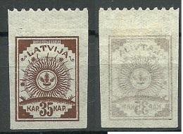 LETTLAND Latvia 1919 Michel 12 B * - Lettland