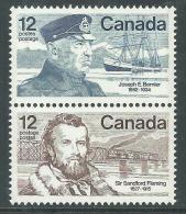 Canada Thème Polaire N° 640 / 41v XX J. E. Bernier Et Sir S. Fleming, Les 2 Vals En Paire Verticale Sans Charnière, TB - 1952-.... Règne D'Elizabeth II