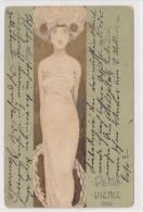 Illustrateur Raphael Kirchner - Demi Vierge - Kirchner, Raphael