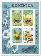 Dominica 1973, Postfris MNH, Flowers, Fruit, Crabs - Dominica (1978-...)