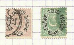 Turquie N°34, 35 Cote 2.50 Euros - 1837-1914 Smyrna