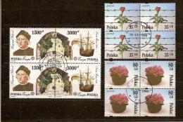 Poland Pologne 1992 1995 CEPT Yvertn° 3178-79 Et 3325-26 (°) Used Oblitéré - 1944-.... République