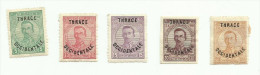 Thrace N°51 à 53, 55, 56 Cote 2 Euros - Thrace