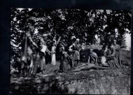 N1653 SCULTURA - STATUE NELLA VIA CRUCIS DI LOURDES - XI STAZIONE: GESù è Inchiodato In Croce - VERA FOTOGRAFIA, PHOTO - Sculture