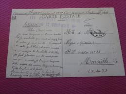 1915 MILITARIA GRIFFE 12é CIE CAD FM TRESOR ET POSTE ARNAUD 115é TERRITORIAL14é ESCADRE SECTEUR POST 44 WW1 GUERRE 14/18 - Marcophilie (Lettres)