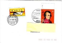 F] Enveloppe Cover Allemagne Germany Compositeur Composer Mozart Label Vignette - Music