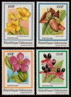 ~~~  Gabon 1986 - Fleurs Bloemen Flora - Mi. 962/965 ** MNH ~~~ - Gabon (1960-...)