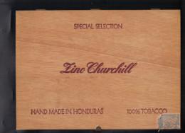 Boite De Cigares . ZINO CHURCHILL , Hand Made Honduras . ( 26,5 X 19,5 X 5 ). - Cigares - Accessoires