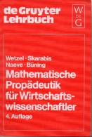 Mathematische Propadeutik Fur Wirtschaftswissenschaftler - 1981 - Livres Scolaires