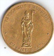 2514 Vz Parochialis S. Augustini Wavriae S. Cath. – Kon. FMZNK  100 Stienus St. Augustinuskerk - Jetons De Communes