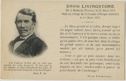 David Livingstone Born In Blantyre Scotland Dead In Chitambo Anti Slavery Anti Esclavage Esclavagisme - Zambie