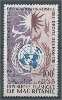 Mauritania, Universal Declaration Of Human Rights, 1963, MNH VF, Airmail - Mauretanien (1960-...)