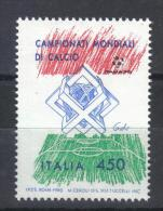 MB382B - REPUBBLICA 1989, Mondiali Di Calcio : Il 450 Lire Con Spostamento Del Blue *** - 6. 1946-.. Repubblica