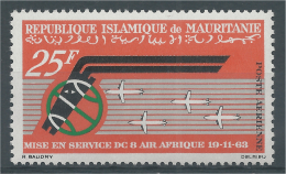 Mauritania, Air Afrique, 1963, MNH VF, Airmail - Mauretanien (1960-...)