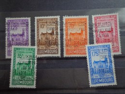 LUXEMBOURG- Luxemburg  Série N° 282 à 287 Congrès F.I.P.de 1936 Used - Usados