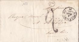 1181# LETTRE Datée FIXIN BOITE RURALE L Obl GEVREY CHAMBERTIN 1849 T15 COTE D' OR Pour BRIOUDE HAUTE LOIRE - Marcophilie (Lettres)