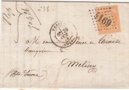 1872  N° 38 VESOUL HAUTE SAONE  / 7228 - Marcophilie (Lettres)